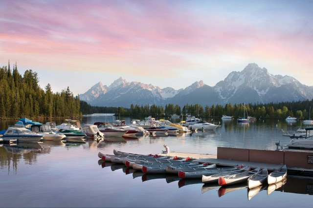 Colter Bay Marina Grand Teton Lodge Company Jackson Hole Traveler