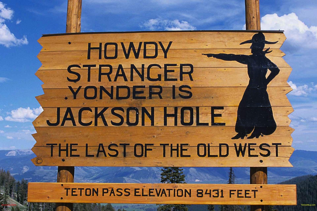 The Howdy Stranger Sign At The Top Of Teton Pass Greets Visitors To Jackson  Hole,