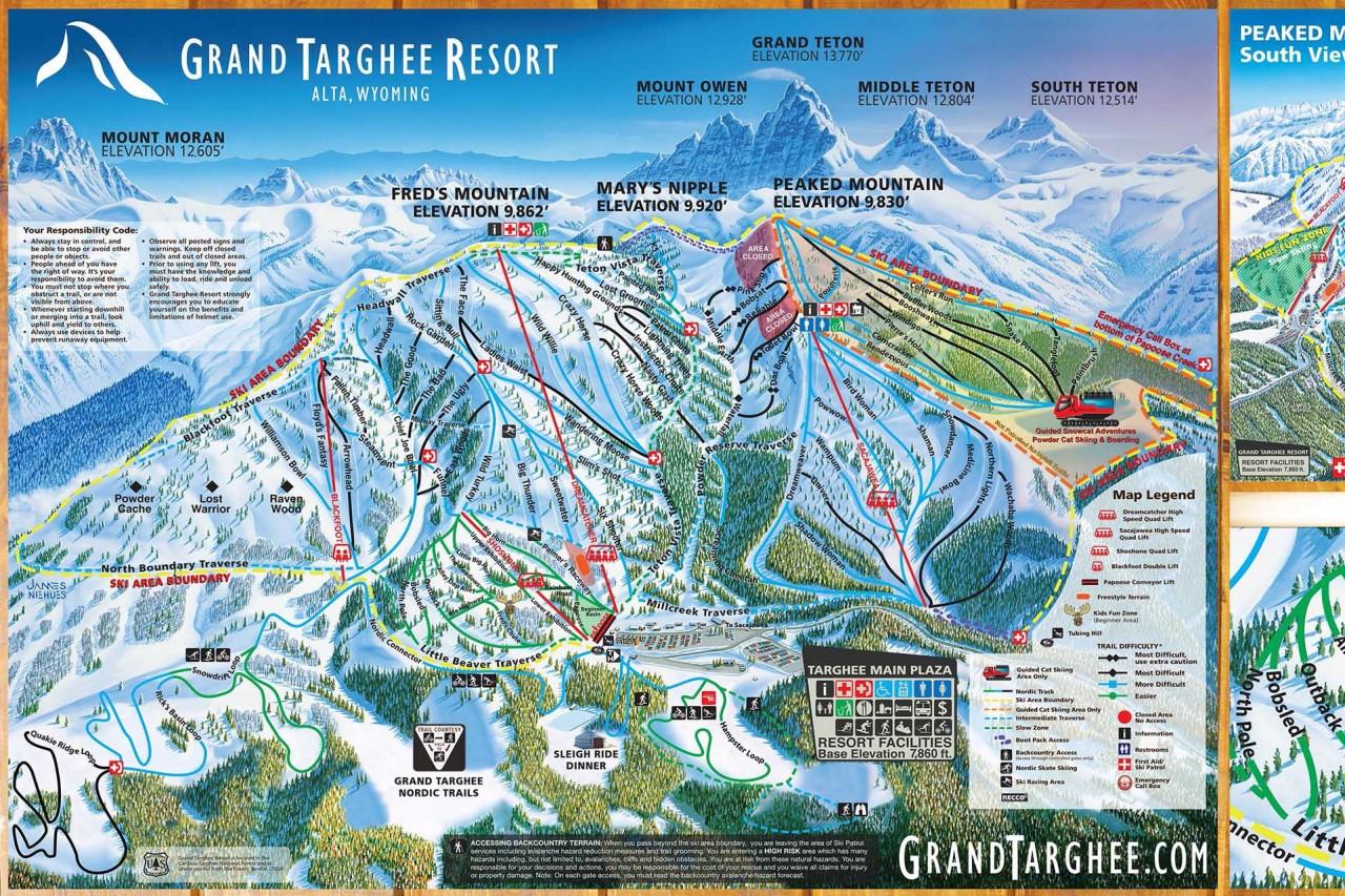 Ski Areas In Wyoming Map.Winter At Grand Targhee Resort Jackson Hole Traveler