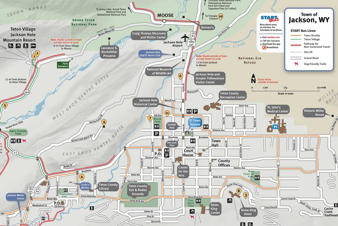 Map Of Jackson Hole Wyoming And Surrounding Area Jackson Hole Map   Jackson Hole Traveler